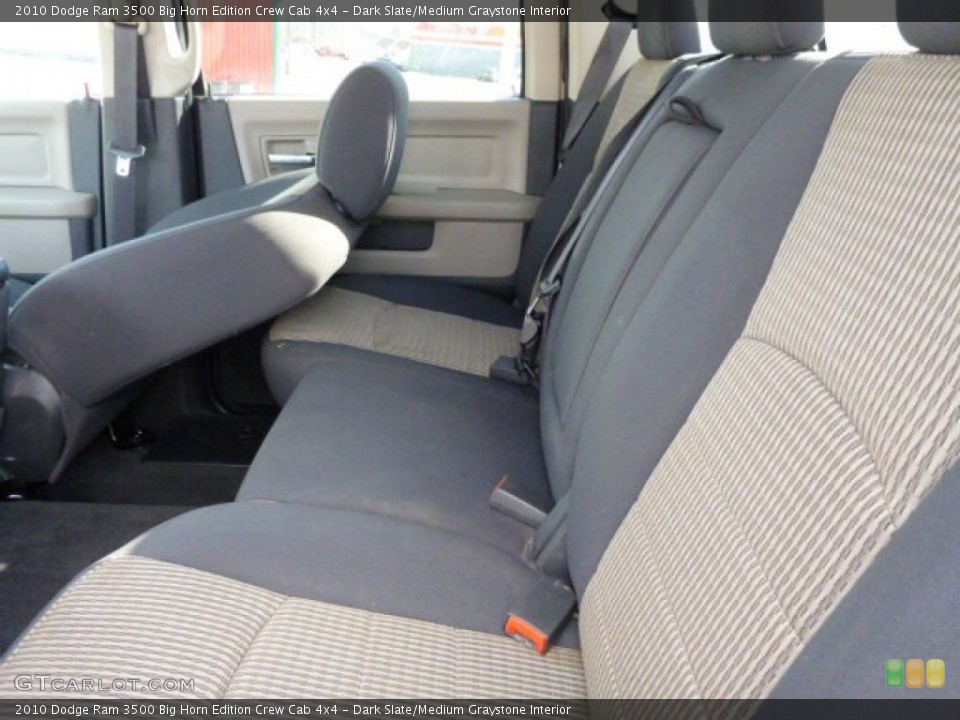 Dark Slate/Medium Graystone Interior Rear Seat for the 2010 Dodge Ram 3500 Big Horn Edition Crew Cab 4x4 #77060591