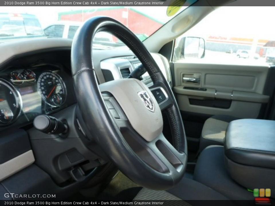 Dark Slate/Medium Graystone Interior Steering Wheel for the 2010 Dodge Ram 3500 Big Horn Edition Crew Cab 4x4 #77060673