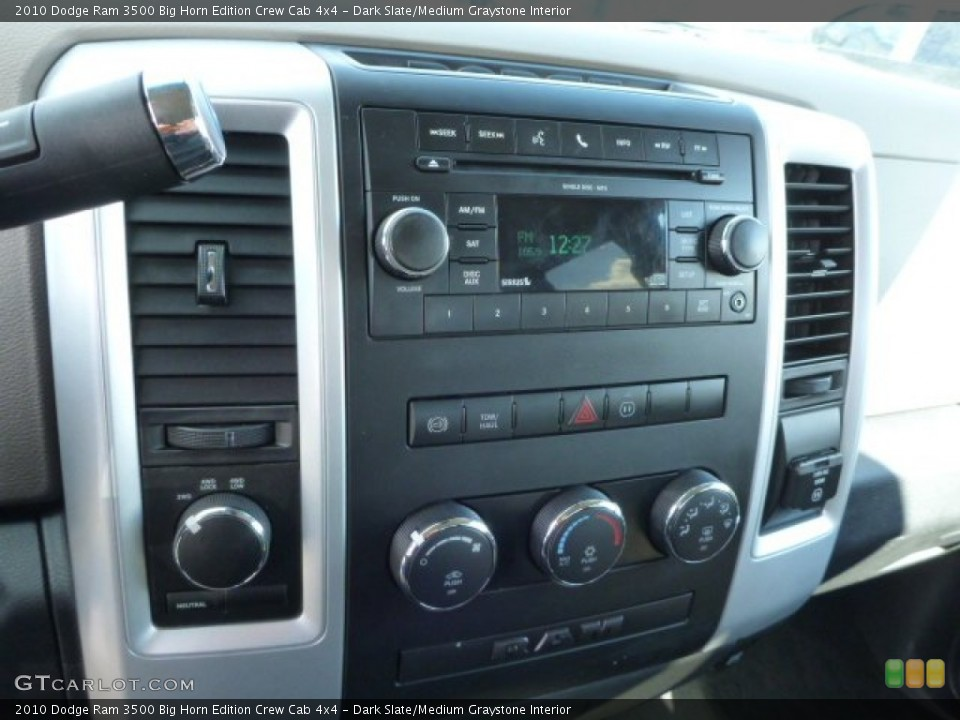 Dark Slate/Medium Graystone Interior Controls for the 2010 Dodge Ram 3500 Big Horn Edition Crew Cab 4x4 #77060708