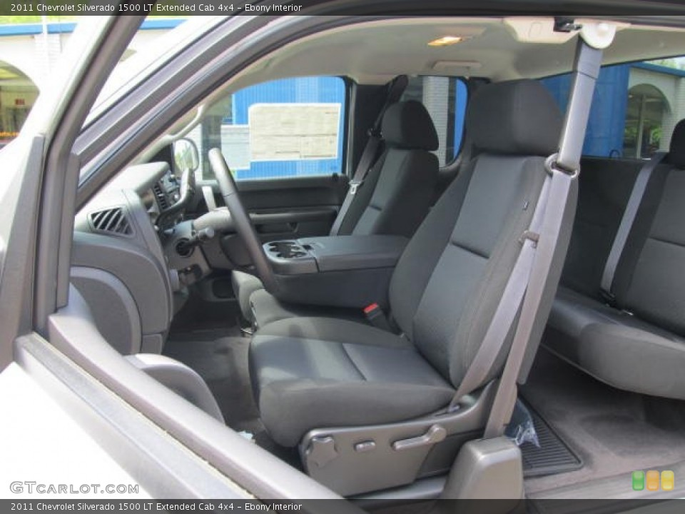 Ebony Interior Photo for the 2011 Chevrolet Silverado 1500 LT Extended Cab 4x4 #77074818