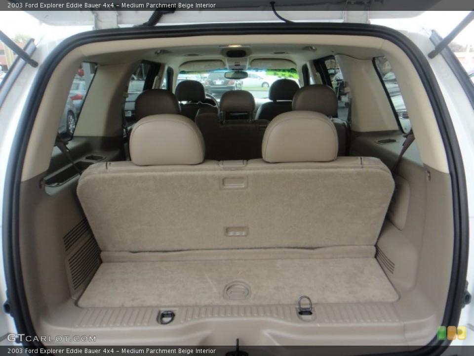 Medium Parchment Beige Interior Trunk for the 2003 Ford Explorer Eddie Bauer 4x4 #77119783