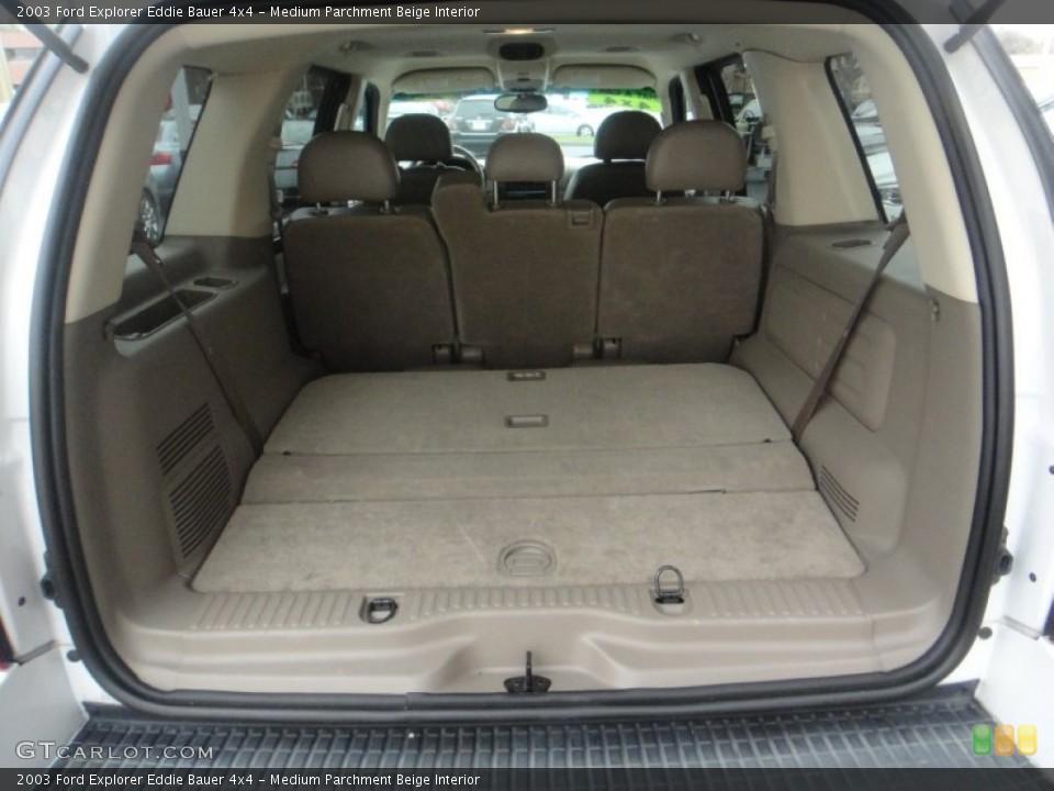 Medium Parchment Beige Interior Trunk for the 2003 Ford Explorer Eddie Bauer 4x4 #77119861