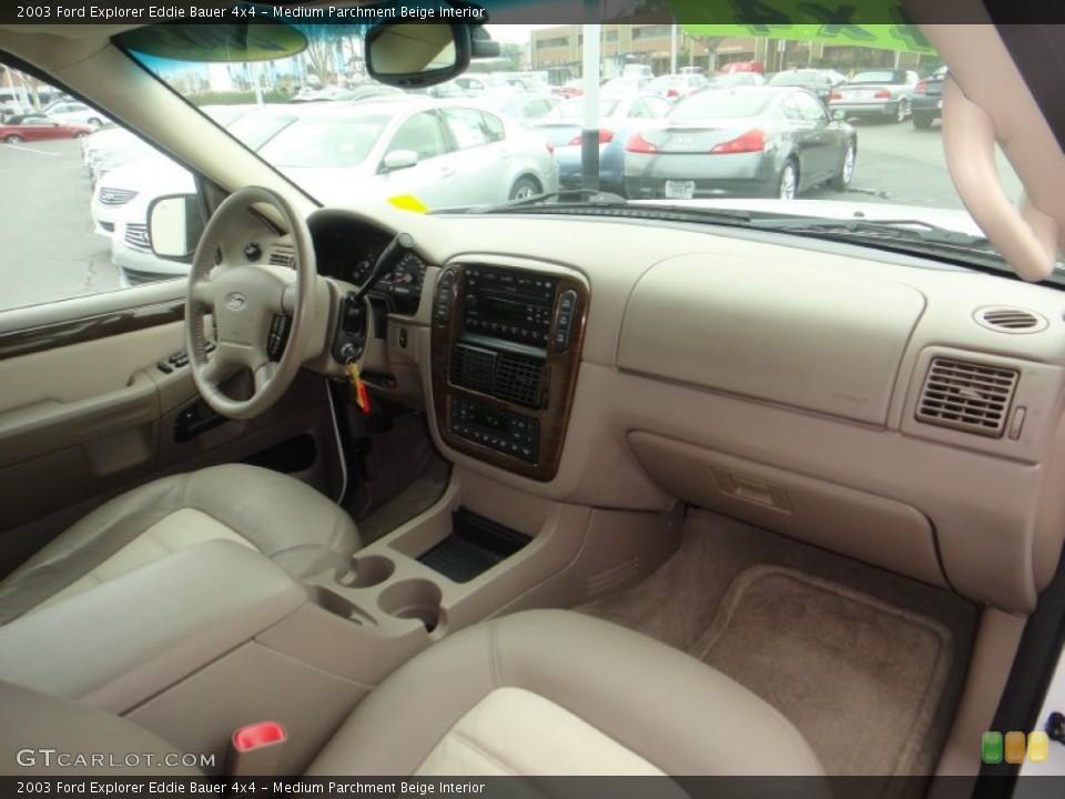 Medium Parchment Beige Interior Dashboard for the 2003 Ford Explorer Eddie Bauer 4x4 #77119901