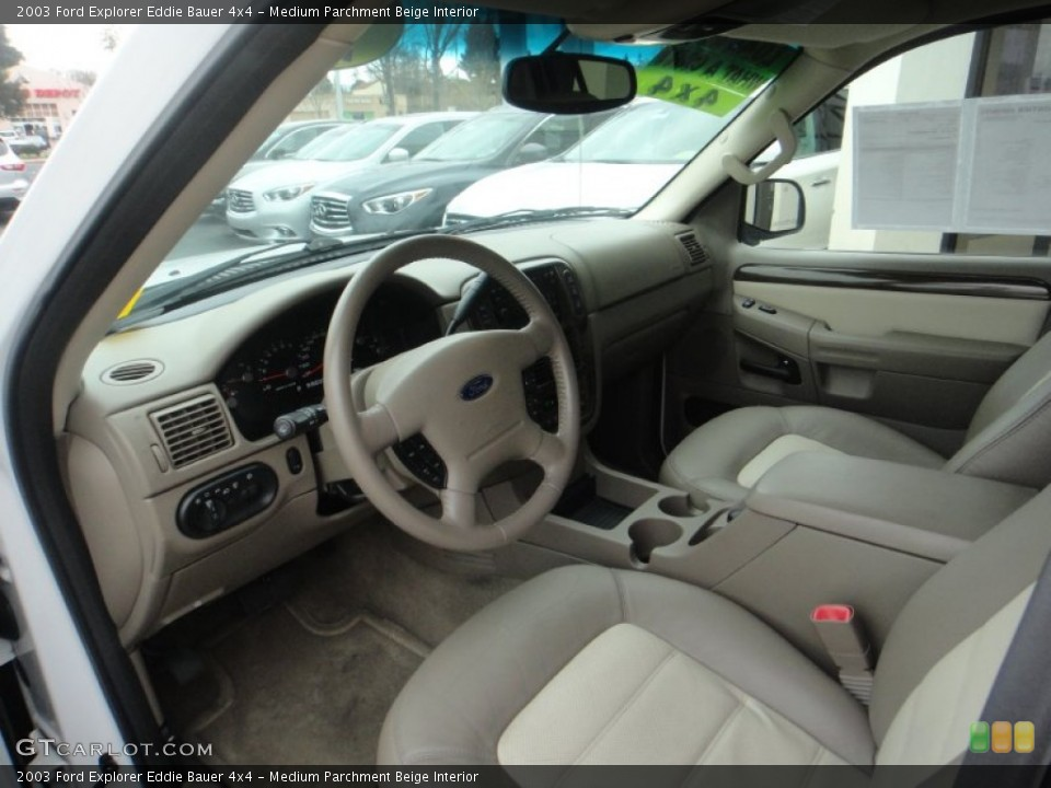 Medium Parchment Beige Interior Prime Interior for the 2003 Ford Explorer Eddie Bauer 4x4 #77120001