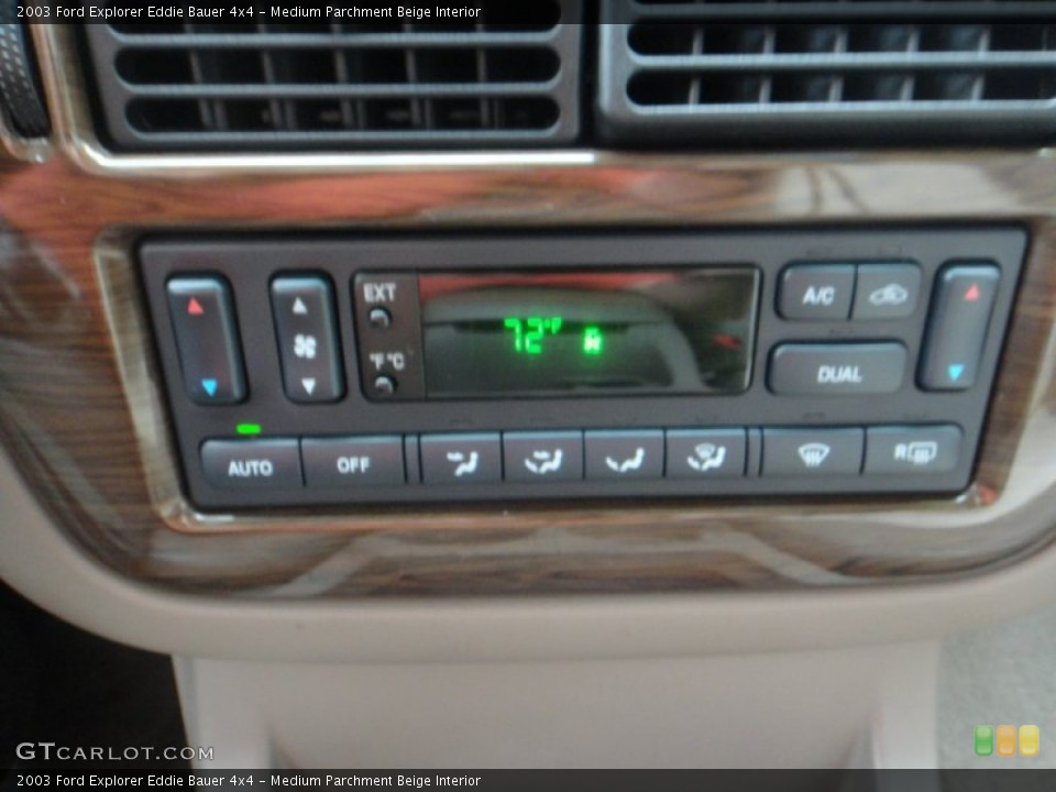 Medium Parchment Beige Interior Controls for the 2003 Ford Explorer Eddie Bauer 4x4 #77120092