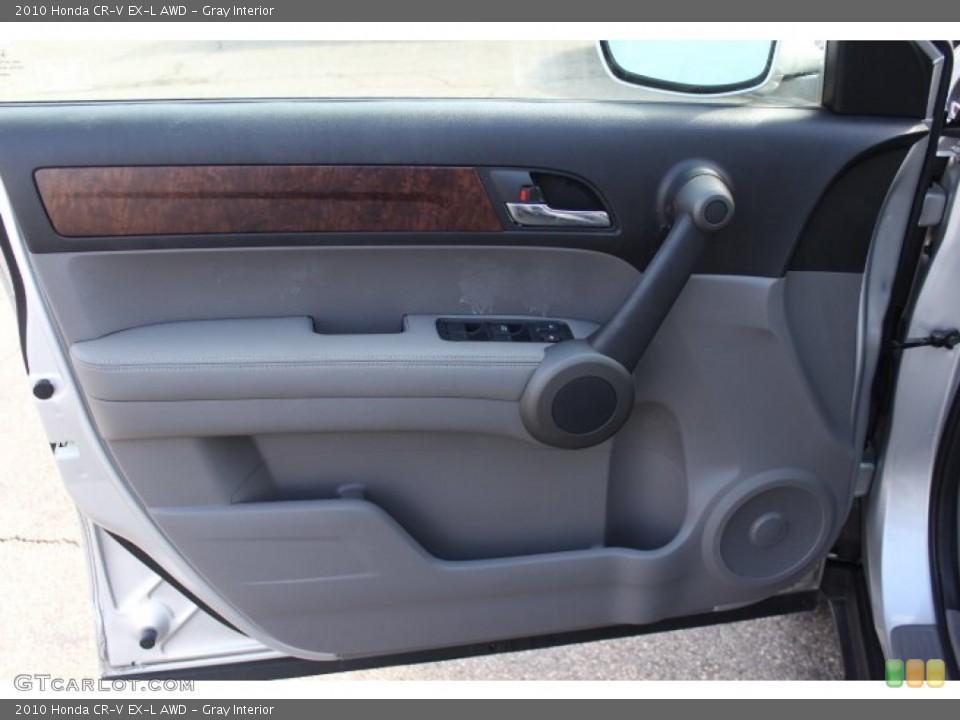 Gray Interior Door Panel for the 2010 Honda CR-V EX-L AWD #77172116