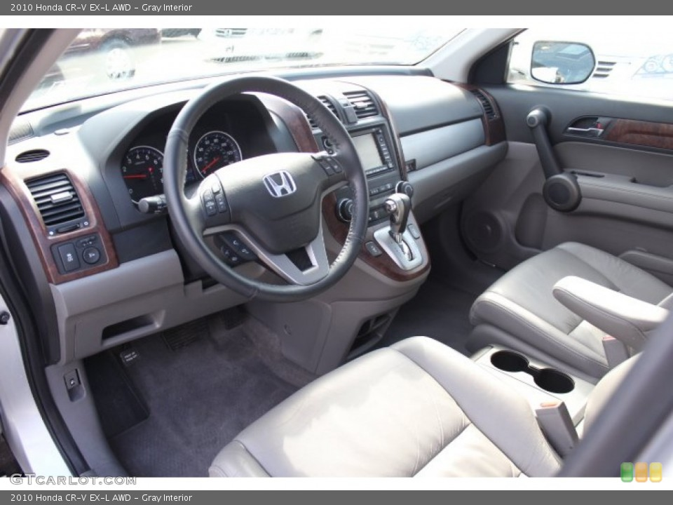 Gray Interior Photo for the 2010 Honda CR-V EX-L AWD #77172137