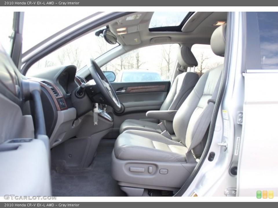 Gray Interior Photo for the 2010 Honda CR-V EX-L AWD #77172155