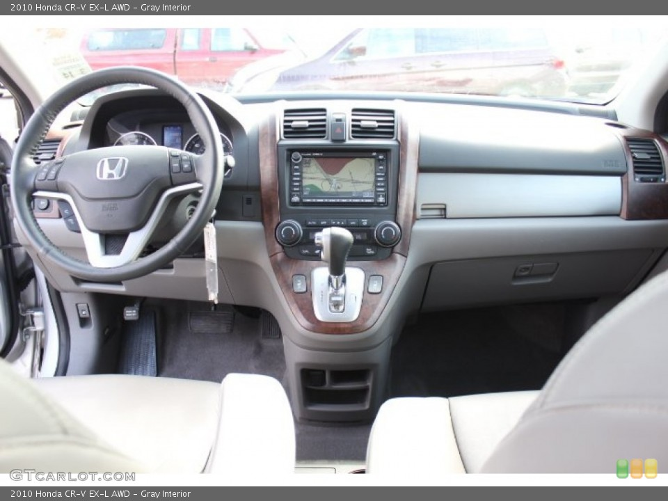 Gray Interior Dashboard for the 2010 Honda CR-V EX-L AWD #77172179