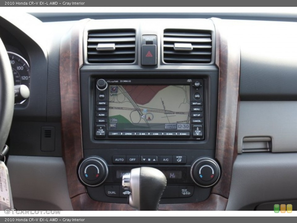 Gray Interior Navigation for the 2010 Honda CR-V EX-L AWD #77172191