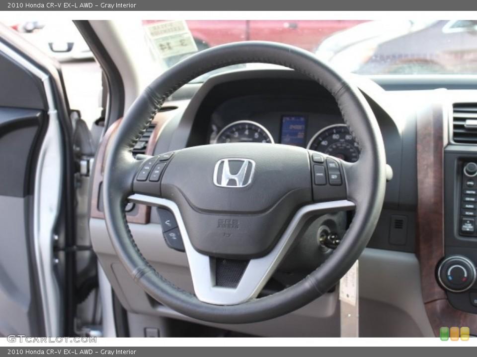 Gray Interior Steering Wheel for the 2010 Honda CR-V EX-L AWD #77172236