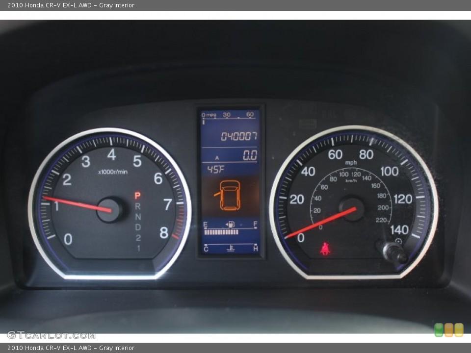 Gray Interior Gauges for the 2010 Honda CR-V EX-L AWD #77172257
