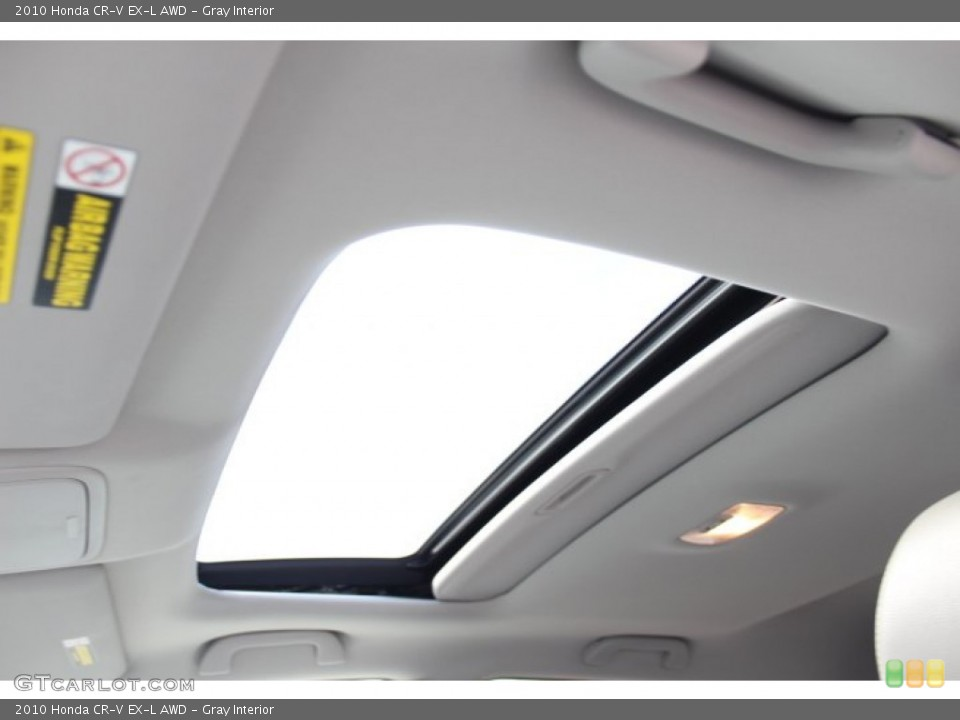 Gray Interior Sunroof for the 2010 Honda CR-V EX-L AWD #77172275