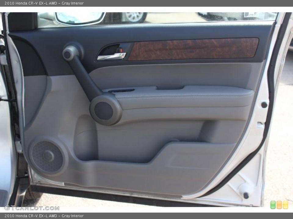 Gray Interior Door Panel for the 2010 Honda CR-V EX-L AWD #77172389