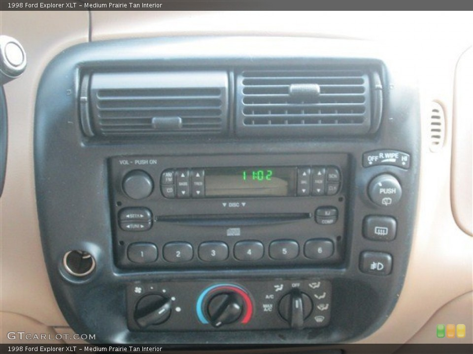 Medium Prairie Tan Interior Controls for the 1998 Ford Explorer XLT #77192998