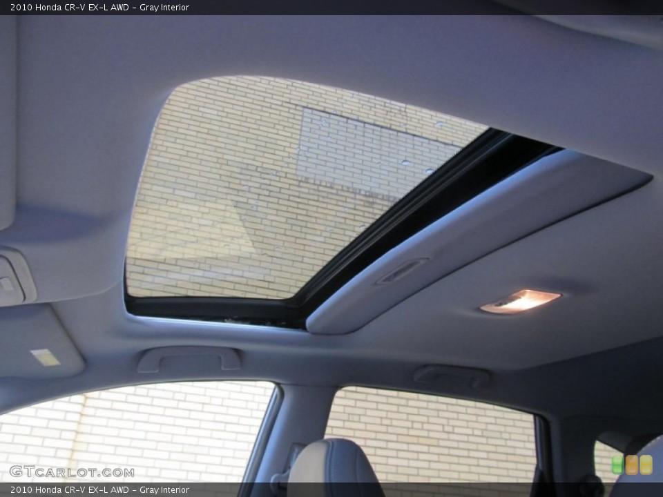 Gray Interior Sunroof for the 2010 Honda CR-V EX-L AWD #77226140