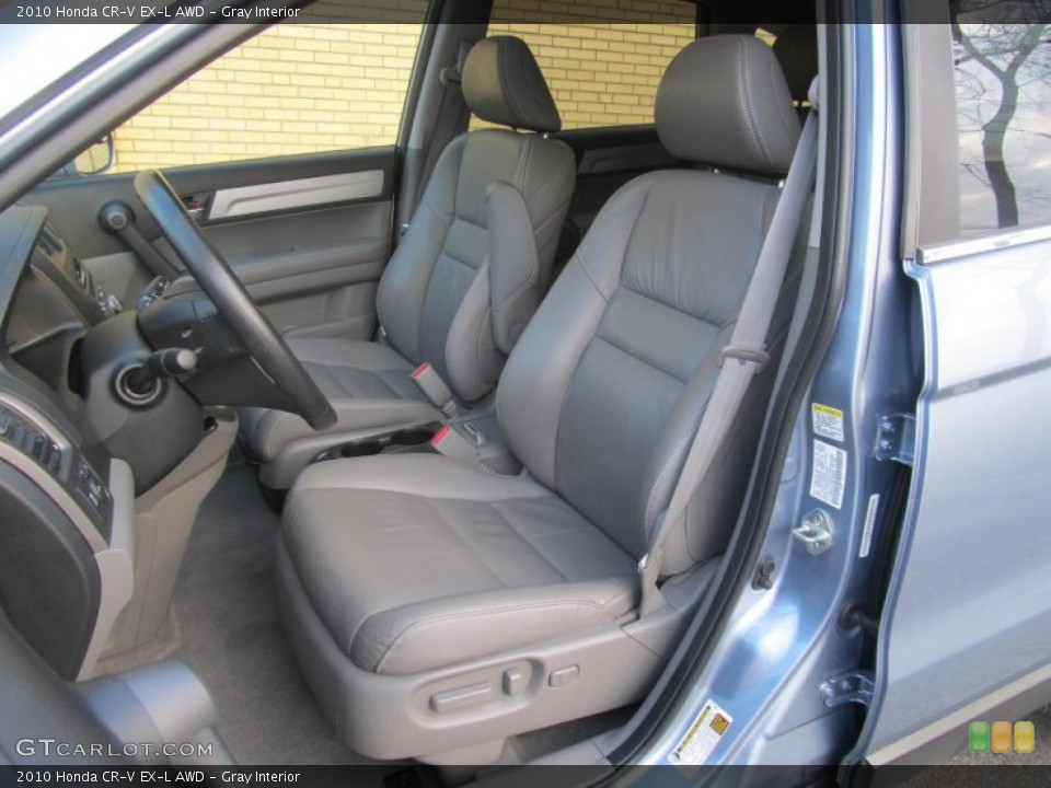 Gray Interior Front Seat for the 2010 Honda CR-V EX-L AWD #77226161