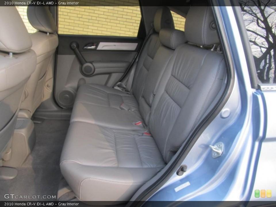 Gray Interior Rear Seat for the 2010 Honda CR-V EX-L AWD #77226185