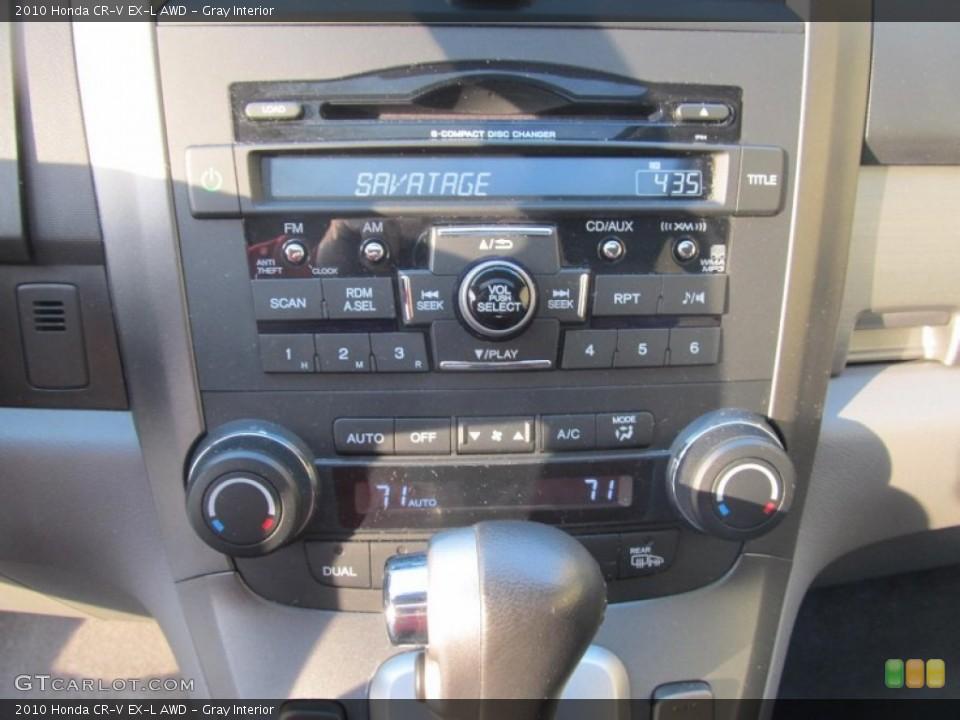 Gray Interior Controls for the 2010 Honda CR-V EX-L AWD #77226221