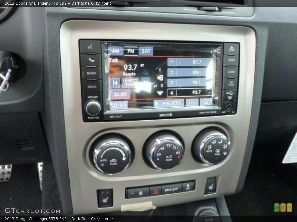 Dark Slate Gray Interior Controls for the 2013 Dodge Challenger SRT8 392 #77261016