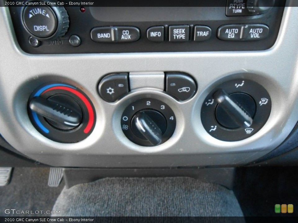 Ebony Interior Controls for the 2010 GMC Canyon SLE Crew Cab #77321220