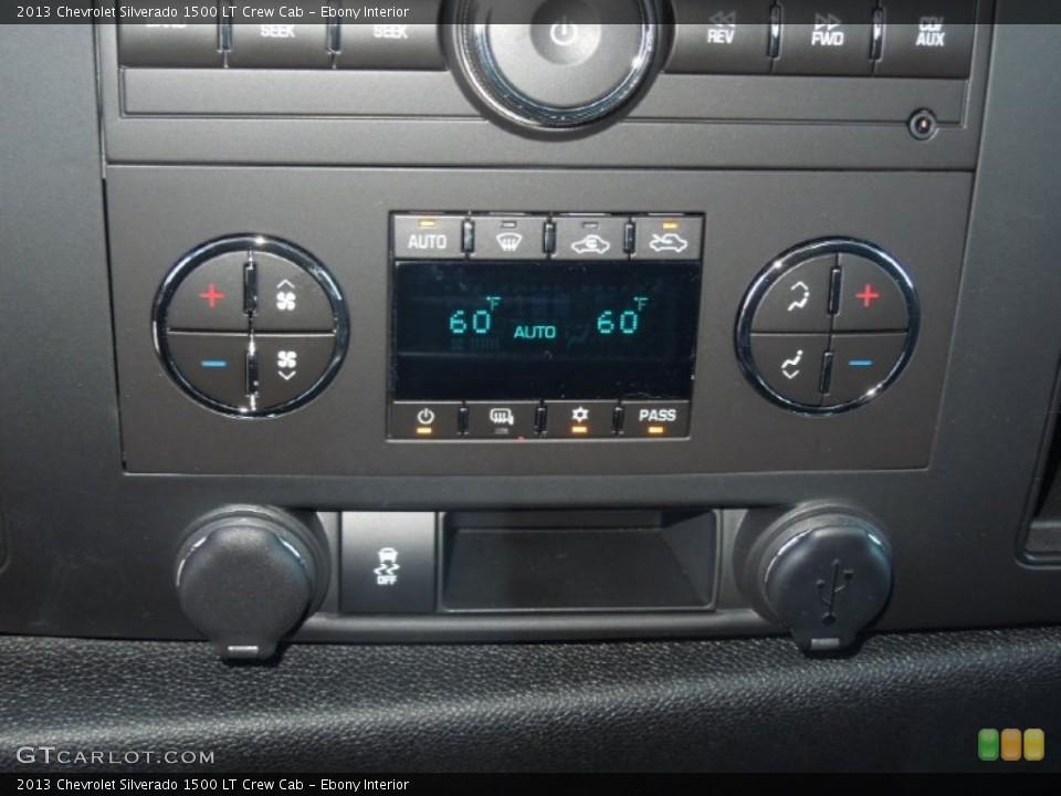 Ebony Interior Controls for the 2013 Chevrolet Silverado 1500 LT Crew Cab #77378430