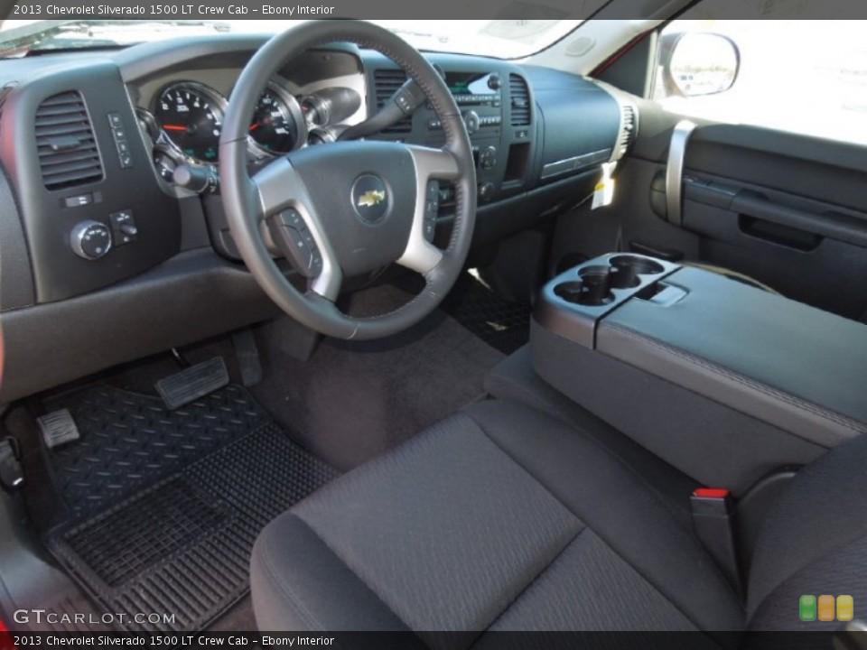 Ebony Interior Prime Interior for the 2013 Chevrolet Silverado 1500 LT Crew Cab #77378694