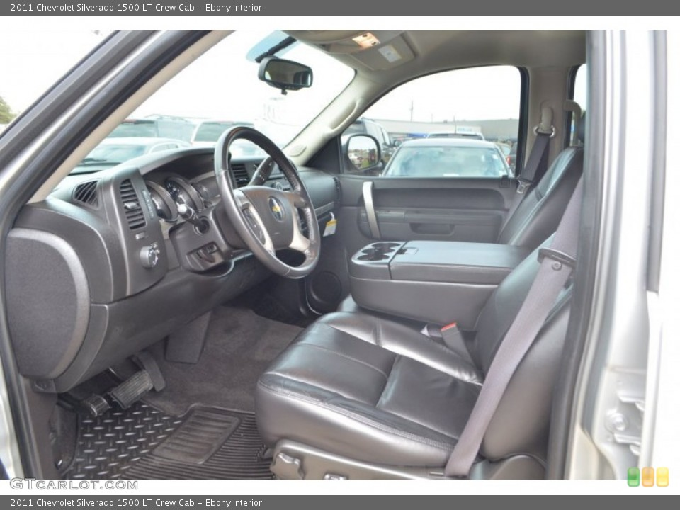 Ebony Interior Front Seat for the 2011 Chevrolet Silverado 1500 LT Crew Cab #77386850