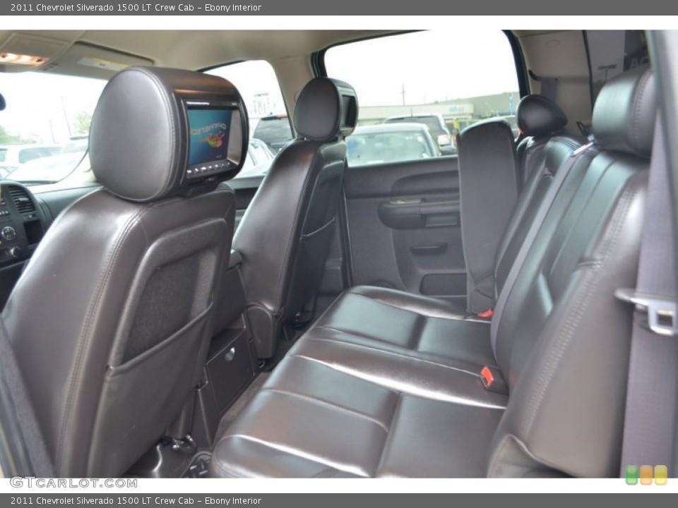Ebony Interior Rear Seat for the 2011 Chevrolet Silverado 1500 LT Crew Cab #77386878