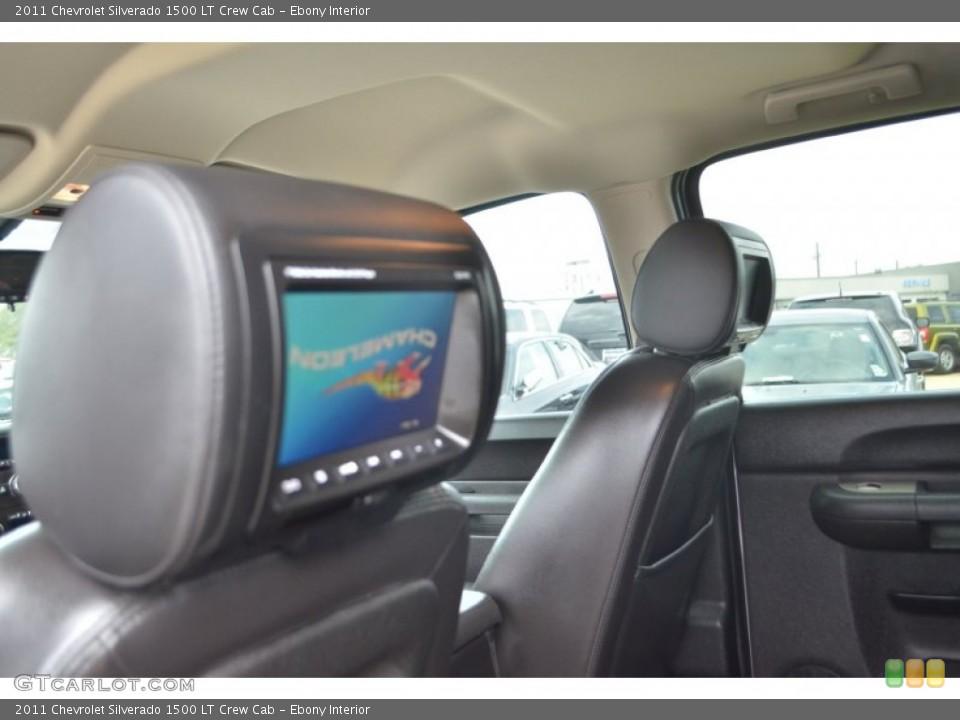Ebony Interior Entertainment System for the 2011 Chevrolet Silverado 1500 LT Crew Cab #77386896