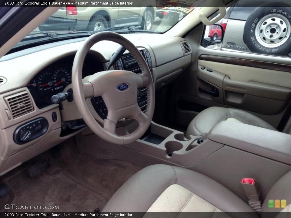 Medium Parchment Beige Interior Photo for the 2003 Ford Explorer Eddie Bauer 4x4 #77421876