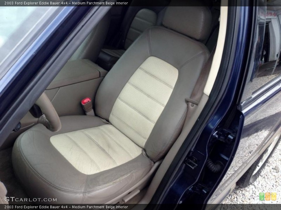 Medium Parchment Beige Interior Front Seat for the 2003 Ford Explorer Eddie Bauer 4x4 #77421885