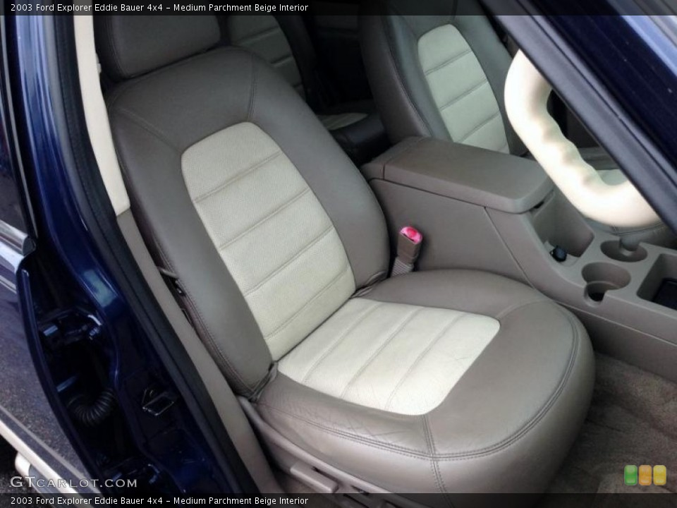 Medium Parchment Beige Interior Front Seat for the 2003 Ford Explorer Eddie Bauer 4x4 #77421927