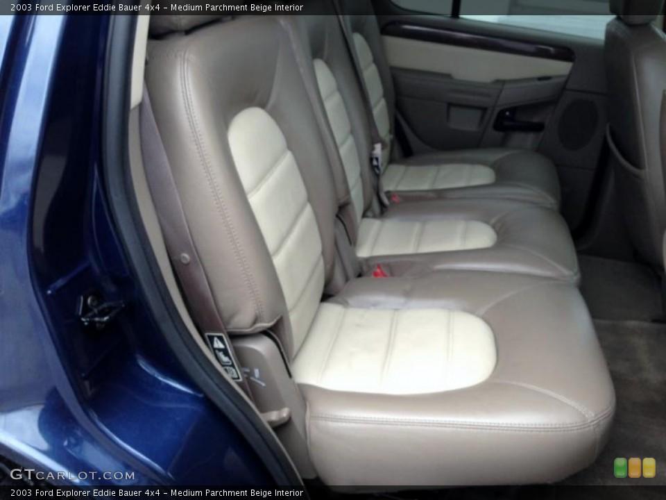 Medium Parchment Beige Interior Rear Seat for the 2003 Ford Explorer Eddie Bauer 4x4 #77421966