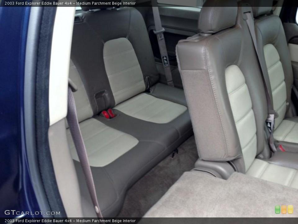 Medium Parchment Beige Interior Rear Seat for the 2003 Ford Explorer Eddie Bauer 4x4 #77421976