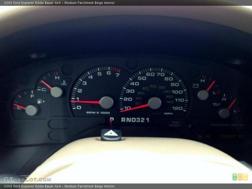 Medium Parchment Beige Interior Gauges for the 2003 Ford Explorer Eddie Bauer 4x4 #77422044