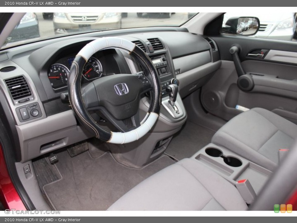 Gray Interior Prime Interior for the 2010 Honda CR-V LX AWD #77425683