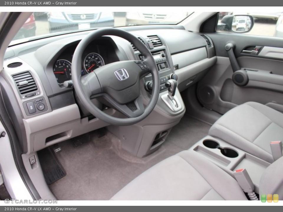 Gray Interior Prime Interior for the 2010 Honda CR-V LX AWD #77425989