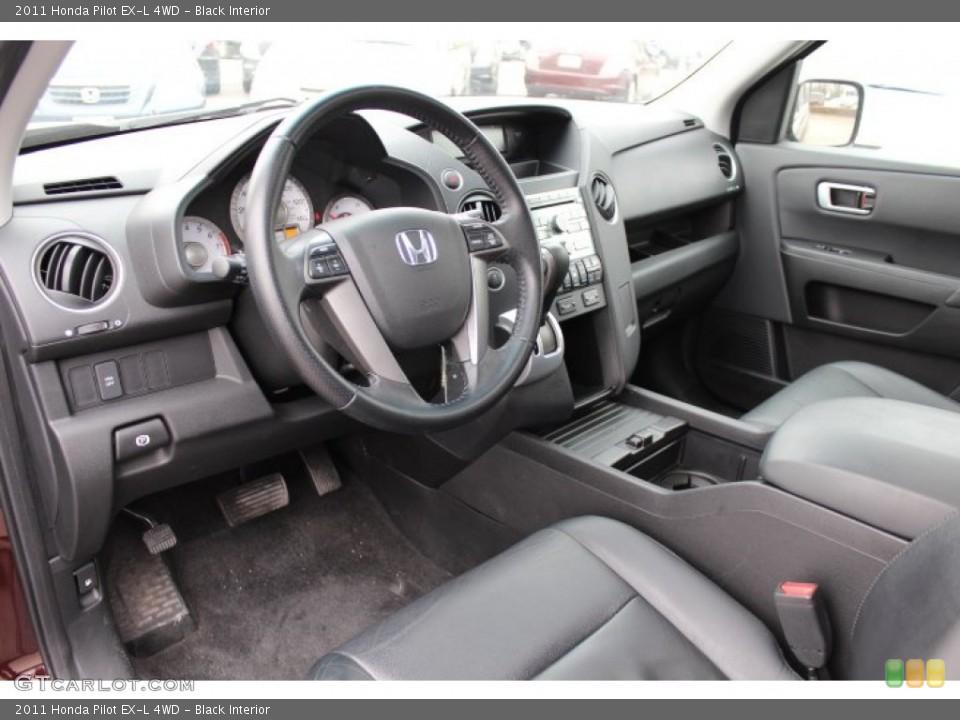 Black Interior Prime Interior for the 2011 Honda Pilot EX-L 4WD #77426595