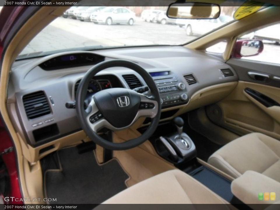 Ivory 2007 Honda Civic Interiors