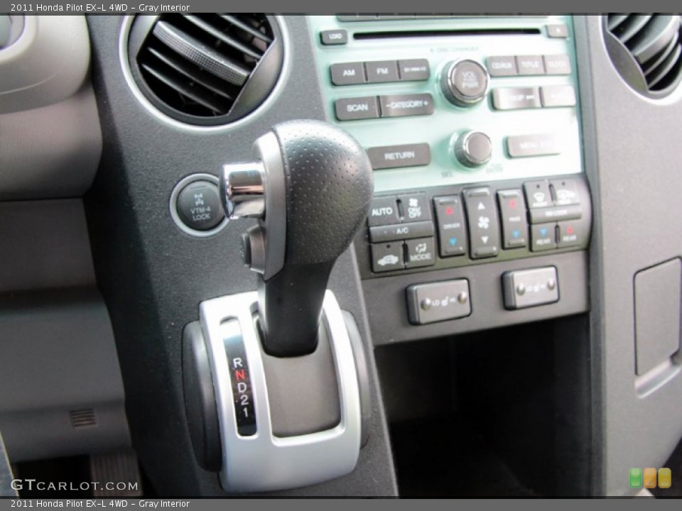 Gray Interior Controls for the 2011 Honda Pilot EX-L 4WD #77467623