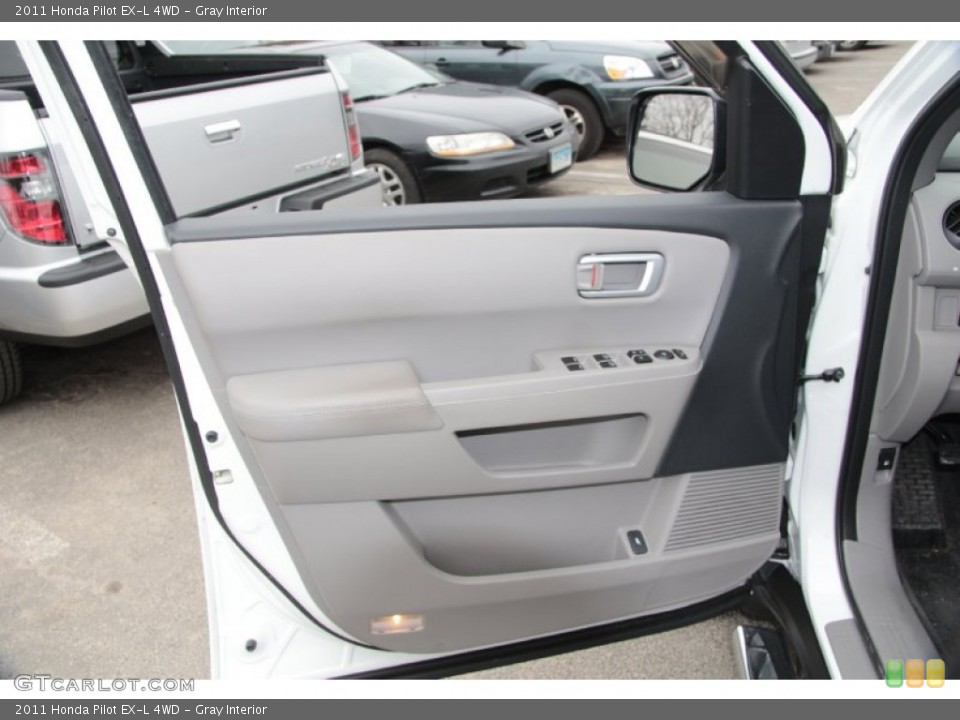 Gray Interior Door Panel for the 2011 Honda Pilot EX-L 4WD #77467689