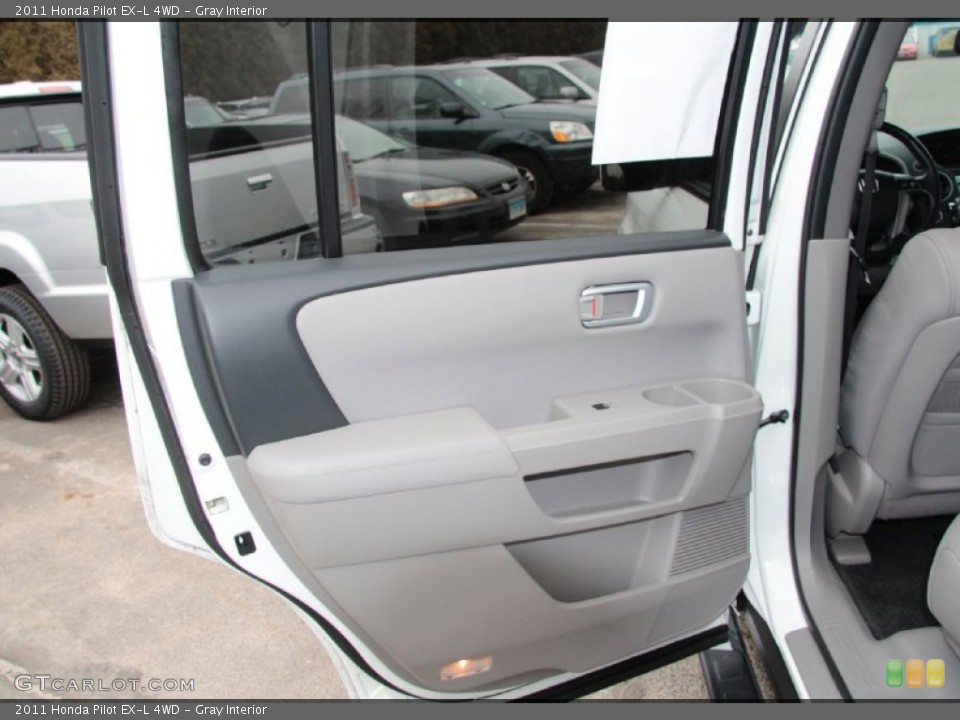 Gray Interior Door Panel for the 2011 Honda Pilot EX-L 4WD #77467707