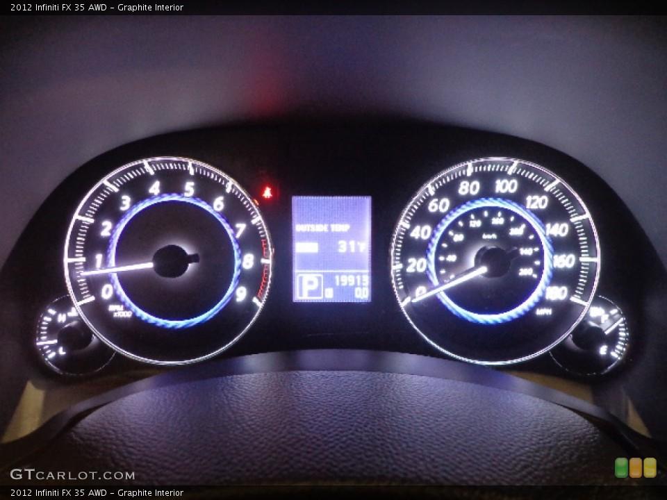 Graphite Interior Gauges for the 2012 Infiniti FX 35 AWD #77472423