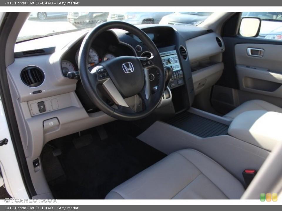 Gray Interior Prime Interior for the 2011 Honda Pilot EX-L 4WD #77495858