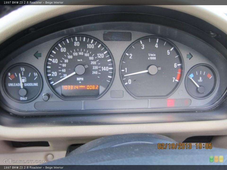 Beige Interior Gauges for the 1997 BMW Z3 2.8 Roadster #77497817