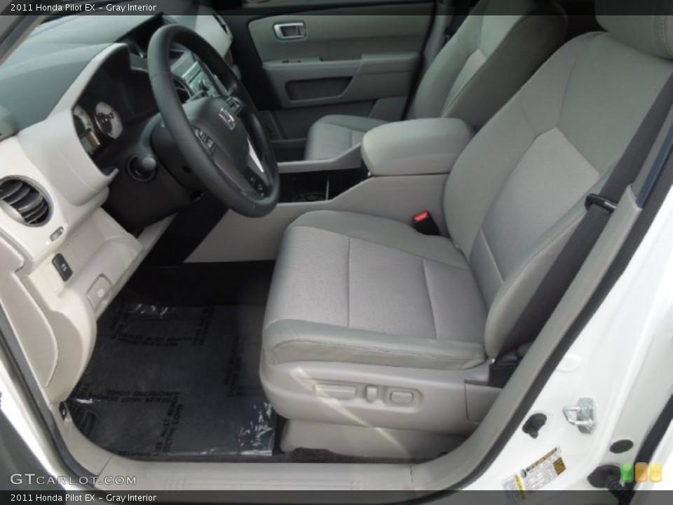 Gray Interior Front Seat for the 2011 Honda Pilot EX #77509204