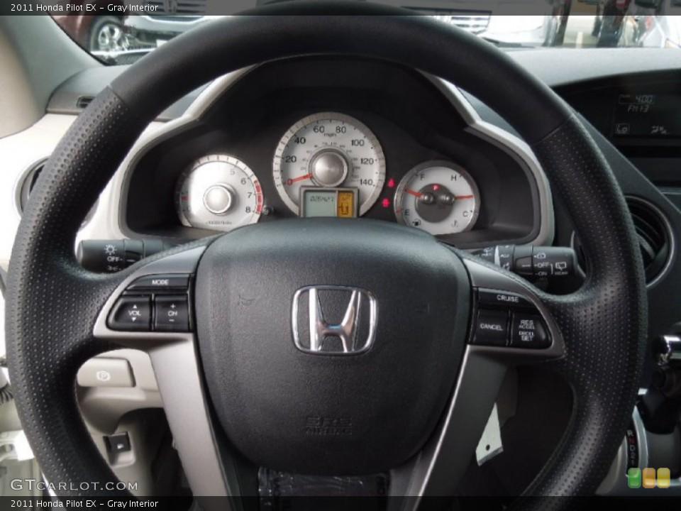 Gray Interior Steering Wheel for the 2011 Honda Pilot EX #77509392