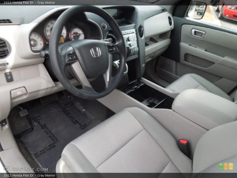 Gray Interior Prime Interior for the 2011 Honda Pilot EX #77509652