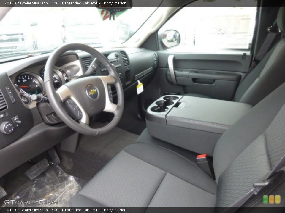 Ebony Interior Prime Interior for the 2013 Chevrolet Silverado 1500 LT Extended Cab 4x4 #77523097